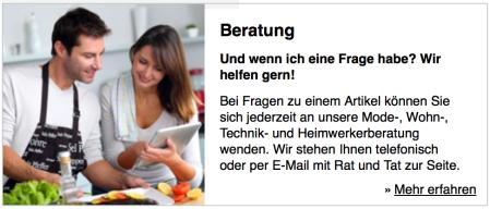 Auch im Online-Zeitalter geht Beratung - wie hier bei Neckermann.
