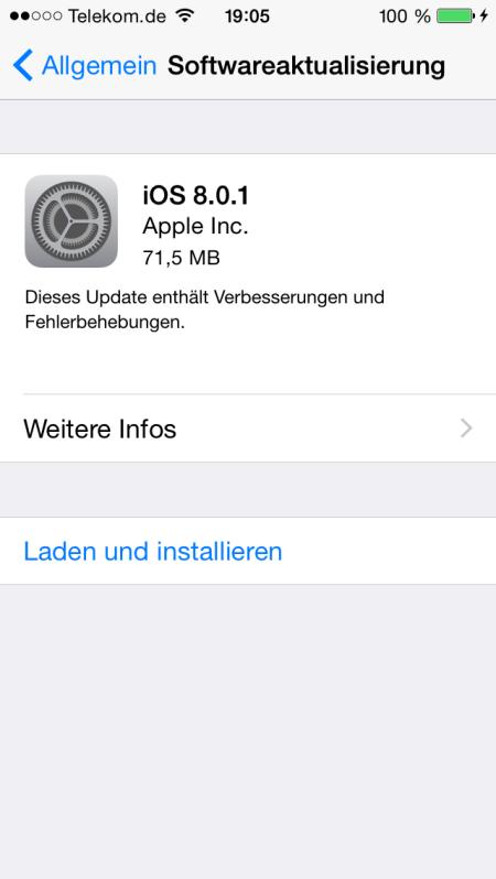 Wohl dann besser doch nicht für iPhone 6 installieren.