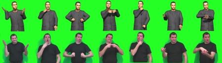 Saarbrücker Informatiker entwickeln ein Verfahren, bei dem Avatare Inhalte in Gebärdensprache wiedergeben sollen. Die Forscher arbeiten dabei mit Peter Schaar (im Bild) zusammen. Der Gehörlose ist Dozent für Gebärdensprache. Foto: AG Heloir