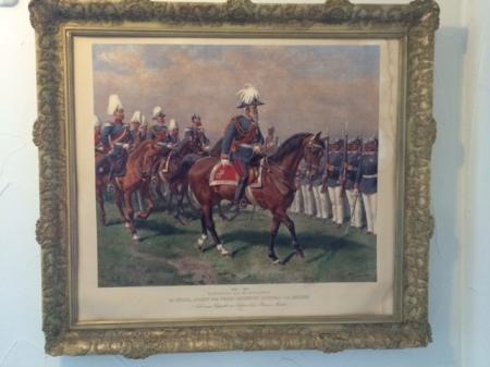 Der Prinzregent auf dem Pferd.