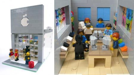 Offiziell nie realisiert: Der Apple Retail Store aus Lego.