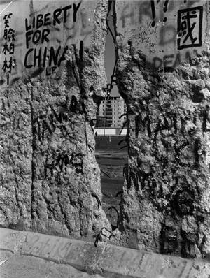 Liberty for China in der Mauer. Foto: Lange