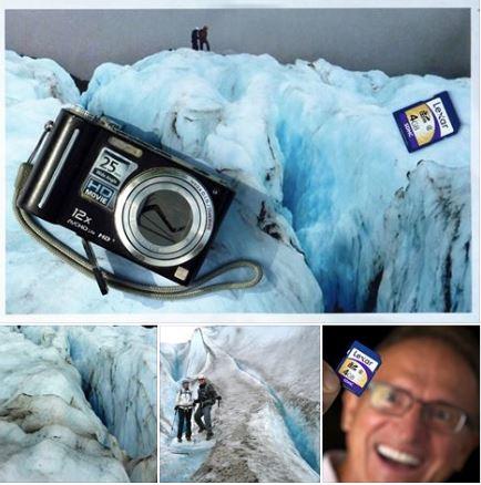 Die Kamera hat drei Jahre Eis in Alaska nicht überlebt, dafür aber die Speicherkarte.