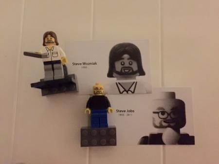 Steve und Steve aus Lego.