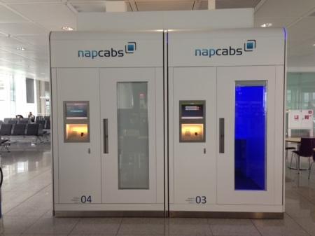 Mir gefällt die Idee einer Schlafkapsel am Flughafen.