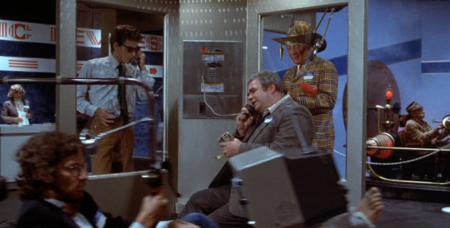 Spielberg vorne und Zeitmaschine hinten.