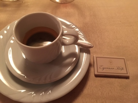Am Ende gab es noch einen Espresso
