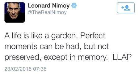 Sein letzter Tweet