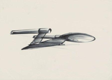 Star Trek - The Motion Picture (US 1979, - Skizze von Ken Adam