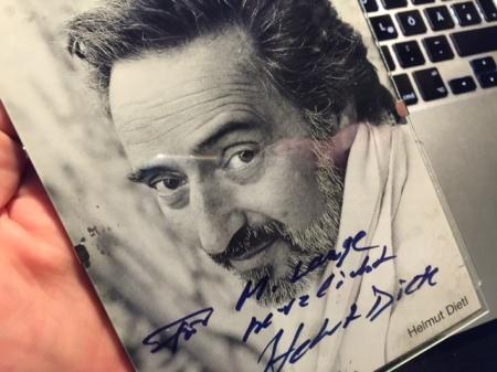 Eines der letzten Dietl-Autogramme.