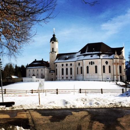 Die Wieskirche bei unserem Besuch.