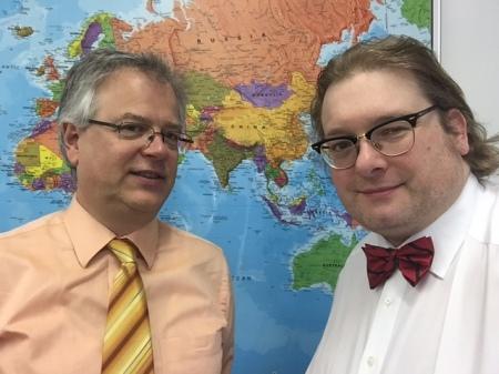Dr. Michael Homberg und der Autor dieser Zeilen.