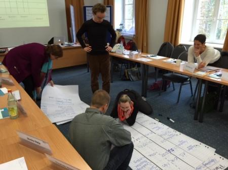 Projektarbeit in unserem Seminar.
