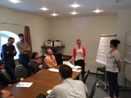 Präsentation in den Arbeitsgruppen.
