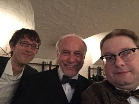 Klaus-Dieter Graf von Molke (Mitte) im Interview mit Thomas Gerlach und mir.