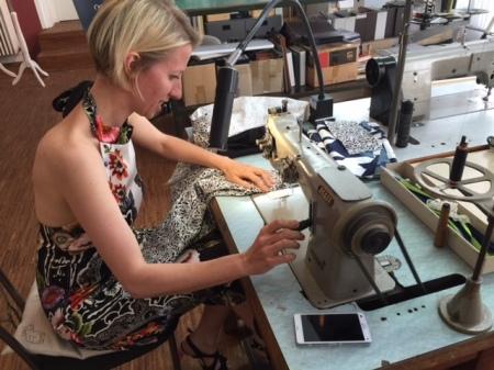 Susanne Spitz bei der Arbeit.