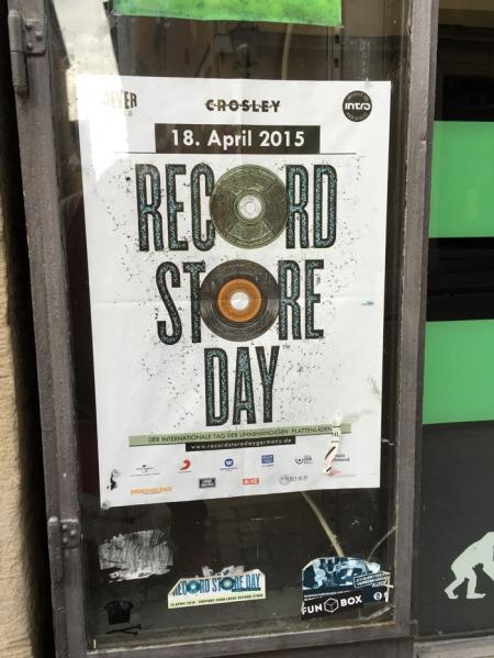 Plakat zum RECORD STORE DAY in Coburg.