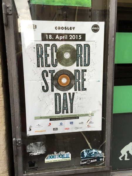Plakat zum RECORD STORE DAY in Coburg.