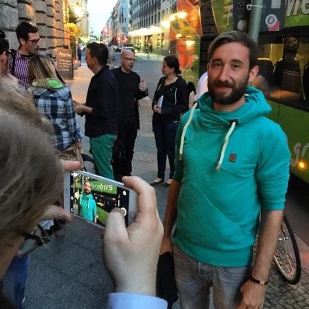 Ich fotografiere Daniel Krauss und werde fotografiert