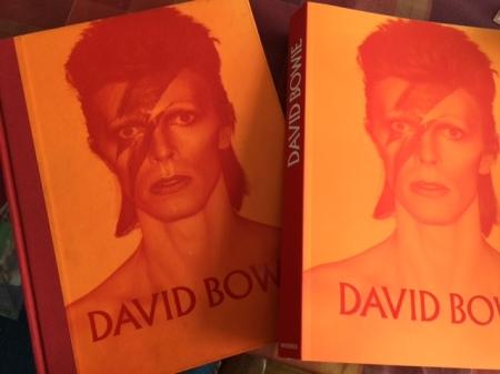 Ausstellungskataloge zur Berliner Bowie-Ausstellung: Hard- und Softcover.