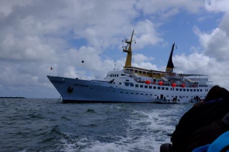 Ausbooten von der Atlantis.