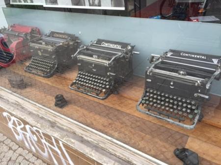 Textverarbeitung in alten Zeiten.
