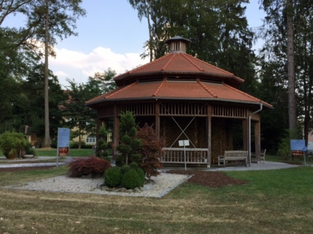 Gradieranlage im Kurpark von Bad Wörishofen.