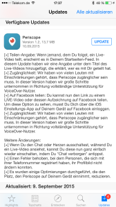 Software-Update von Periscope laden.