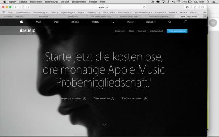 Apple Music wirbt um Abonnenten.