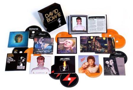 Der Inhalt der ersten Bowie Box Five Years.