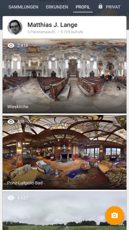 Ich habe mit der Google Street-View App herumgespielt. Unten der Salon des Hotel Prinz Luitpold Bades in Bad Hindelang.