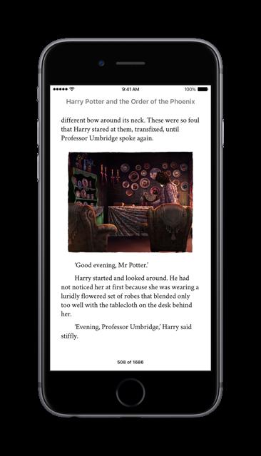 Harry Potter als iBooks auf dem iPhone. Foto: Apple