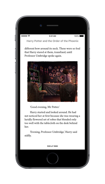 Harry Potter als iBooks auf dem iPhone. Foto: Apple