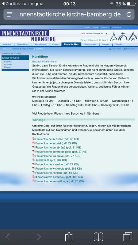 In elf Sprachen wird der Kirchenführer als PDF angeboten.