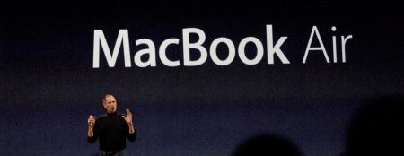 2008 bei der Präsentation des MacBook Air. Foto: Lange