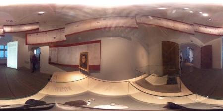Hier die Schuldenspirale in der bayerischen Landesausstellung zu Napoleon in Bayern.