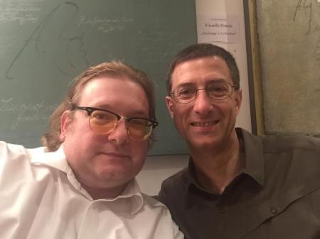 Autor Franz Neumeier (re) und ich.