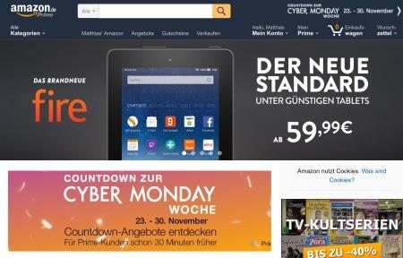Amazon bereitet mich auf den Cyber Monday vor.
