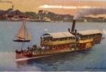 Salondampfer Luitpold auf dem Starnbeger See. Die Reling ist heute im Allgäu im Hotel Prinz Luitpold Bad.