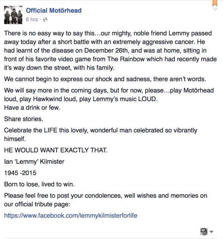 Via Facebook wurde die Nachricht verbreitet.
