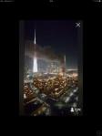 Via Periskope sah ich mir den Brand in Dubai an.