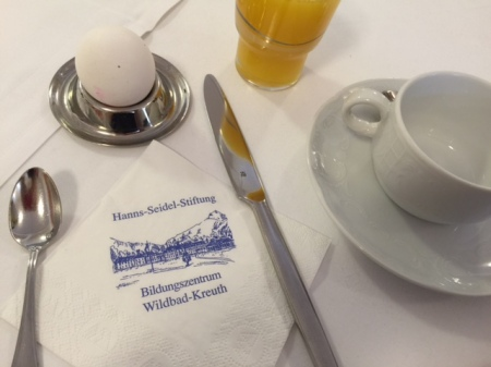 Aus und vorbei - das Frühstücksei.