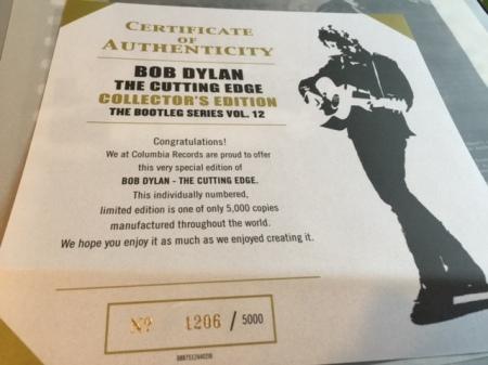 Ich habe die Nummer 1206 der auf 5000 Exemplaren bestehenden Sammleredition aus den USA.