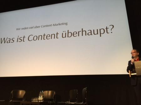 Klaus Eck ging der Frage nach, was Content überhaupt ist.