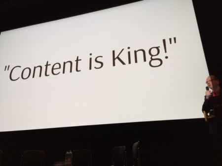 Die größte Lüge ist aber die Aussage: Content is King.