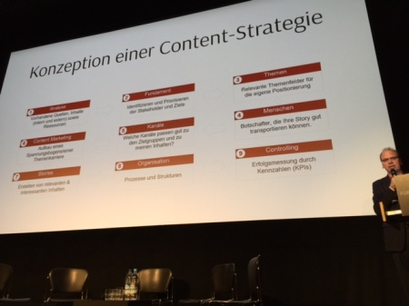 Die Content Strategie sei die Basis jeden Content Marketings.
