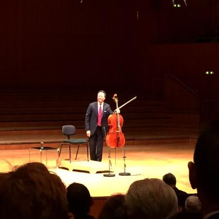 Yo-Yo Ma im Gasteig, München mit den Cello Suiten von Bach.