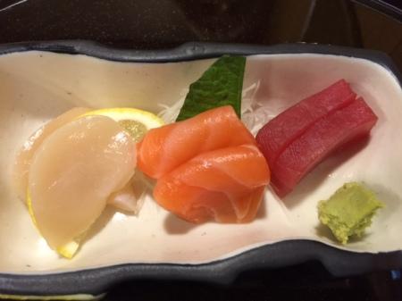Drei Sorten Sashimi