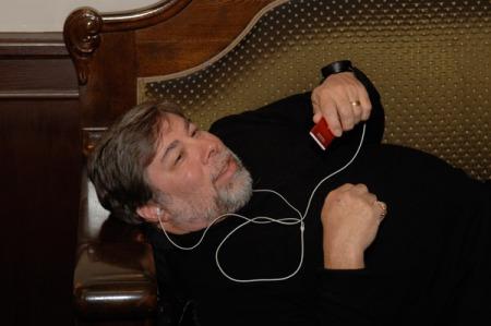 Steve Wozniak hatte im Oktober 2006 den iPod nano als neues Spielzeug dabei, Foto: Lange