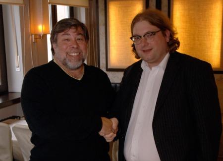 Im Gespräch mit Steve Wozniak im Oktober 2006.